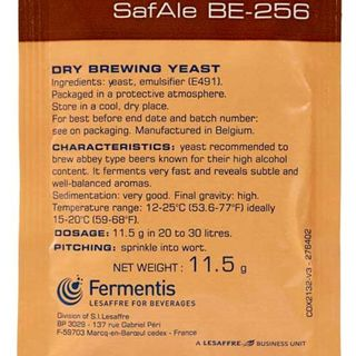 Safbrew BE256 Abbey Yeast Sachet