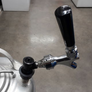 Keg Tap connected to Corney Disconnect