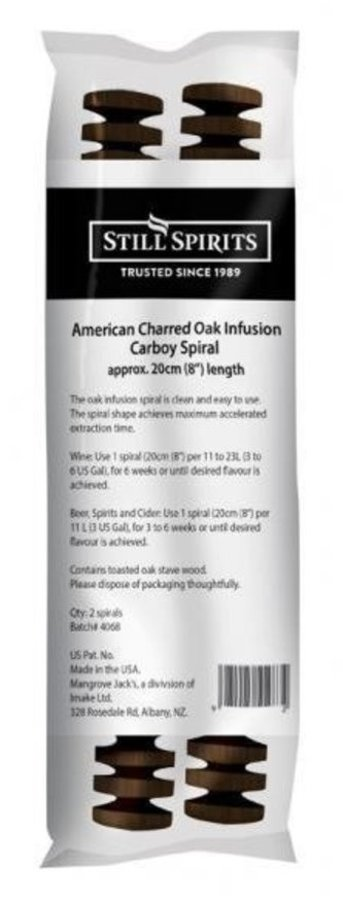 American Dark Charred Oak Infusion Carboy Spiral