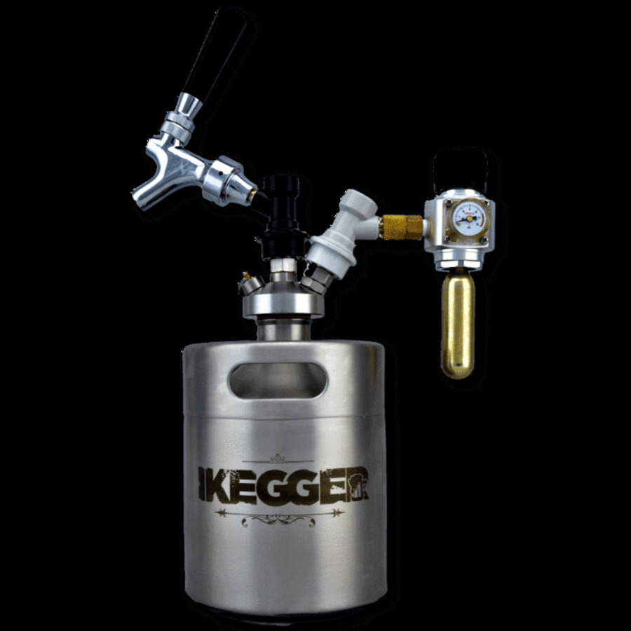 PRO TAPPING SYSTEM FOR MINI KEGS - DOUBLE BALL LOCK TOP, TAP & REGULATOR - BREWERS TOP